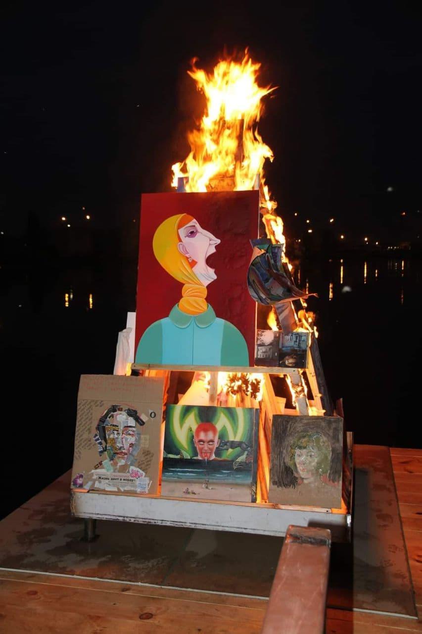 """Перформанс художников art платформы #taboo  состоялся в виде """"погребальной вечеринки"""""""